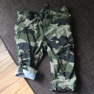 Lined baby camouflage pants